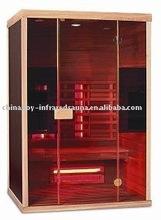 far infrared sauna room , red glass heater cabin