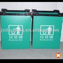 Eco-Friendly Plastic PP Corrugated Rubbish Bin