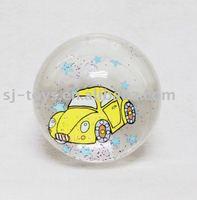 Car gitter bounce ball toy, plastic bouncing ball with air inside