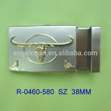 Zinc alloy fashion roller belt buckle metal buckle for fabric strap belt