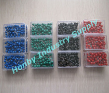 17mm Pop Solid Color Round Head Custom Map Push Pins
