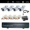 4CH H.264 dvr&camera kit support 3G;cctv security system