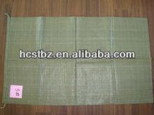 green PP woven bag packing garbage 50kg export to Yemen