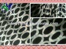 black circle ring printed polyester chiffon for lady's dress