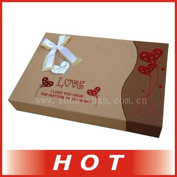 Novo modelo de kraft caixa de papel de chocolate