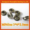 high quality flange ball bearings toy bearing 3x6x2.5mm MF63zz MF63 autozone