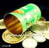 Round Metal tin empty can for food packing
