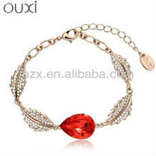 18K Gold Plated red diamond Bracelet with Austria crystal 30176