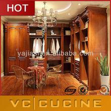 Hot selling Perfect Solid wood bedroom corner wardrobe