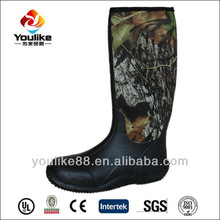 YL8078 High Quality Waterproof Men Camo Rubber Hunting Neoprene Boots