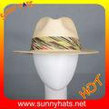 Moda palha chapéu de safári/panamá chapéu