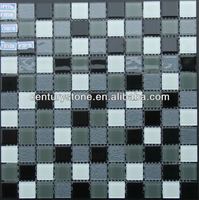 Crystal Glass Mosaic Tile Sheet Kitchen Background Wall