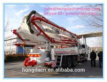 hongda 42m howo camion pompa per calcestruzzo montata