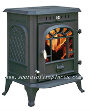 classic log burner/cast iron stove(JA070-H)/indoor metal fireplace stove