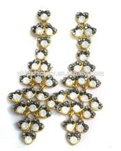 E3000-000 E3000-000 Wholesale Hot Selling Stock Mixed Styles Women Fancy Crystal Alloy Long Dangle Earring