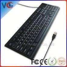 Hot Selling Standard VMK-33 black usb qwerty computer keyboard