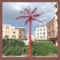 2014 novo produto artificial de plantas de metal moldura de árvore de palma/tronco de coco luz de led 6m
