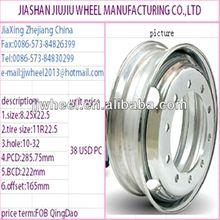 chrome tubeless wire steel wheels