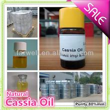 Farwell top quality 100% Pure Natural Cassia Oil CAS#8007-80-5(Cinnamon oil )