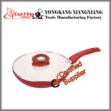 Aluminium Ceramic Red Wok