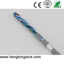 high quality CCA conductor multi pair shield telephone cable