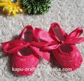 Atacado de moda infantil sapatos de criança recém-nascido tela do laço de sapata de bebê de