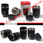 Caniam 24-105mm Camera Lens Coffee Mug 5th With Lock Cover and Stainless Steel Inner Cup