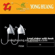 lead sinker with hook,lead weight for fishing