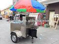 Comida caliente de la máquina expendedora chariot carros de perros calientes con ruedas grandes ys-hd120