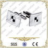 2014 Wholesale Blanks Customized Mens T-shirt Stainless Steel Cufflink