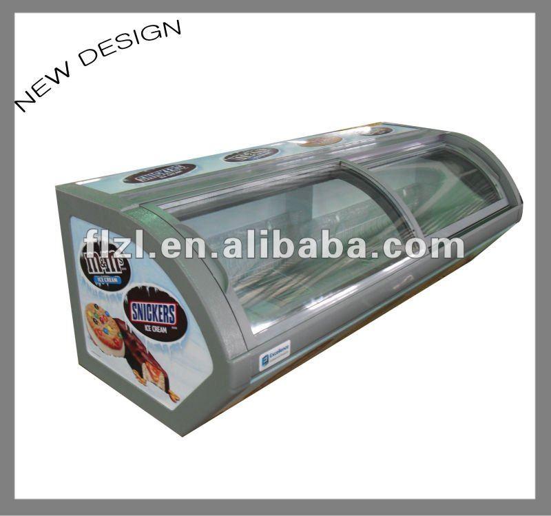 Congelador vitrine super mercado congelador freezer de sorvete uma camada vitrine freezer---2014 novo estilo