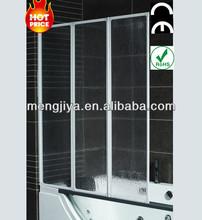 Italian tempered glass folding bath door