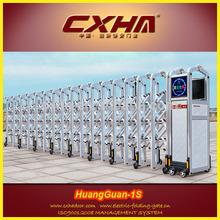 Industrial motorised retractable gate