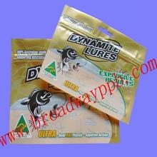 Custom Printed Zipper Fish Lure Bag/Soft Plastic Fishing Lure Bags With Ziplock