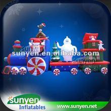 Popular Inflatable Train Christmas for Festival