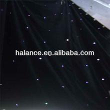 Twinkle optic fiber star cloth/ curtain for wedding decoration