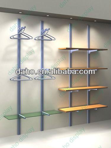 De pared simple estante de exhibici n para que muestra la - Estanteria para ropa ...