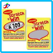 high quality printable lucky security scratch off card paper with black layer