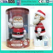 Custom design plastic santa christmas figure