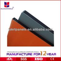New building material de aluminio panel compuesto de plastico