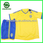 The latest 2013 new style cheap Sweden home soccer uniform, popular football jersey