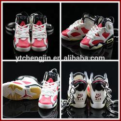 New-coming air jordan sneaker 3d keychains/jordan sneaker keychains wholesale