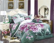 luxury bedding set home textile plain bed linen