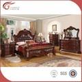 Qualidade superior em madeira mobiliário antigo quarto conjunto, royal mobília do quarto conjunto wa143