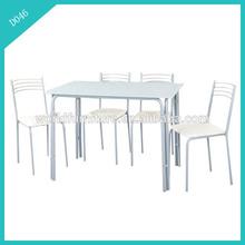 modern design white glass dining room furniture