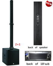 active line array + column speaker box line array system+ equipamento de DJ