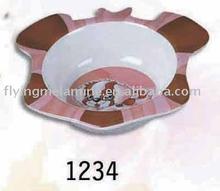 Melamine dog shape bowl