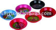 3d plastic round plate