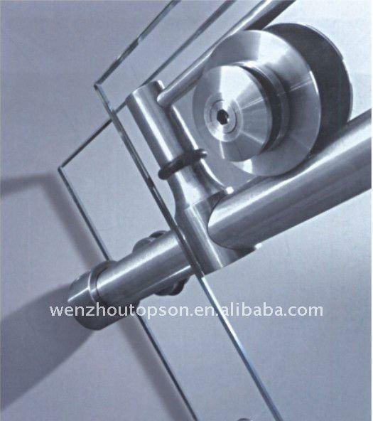 En acierinoxydable en verre sans cadre quincaillerie de porte coulissante cou - Fixation rail porte coulissante ...