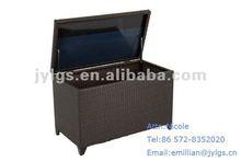 Outdoor PE Rattan cushions storage box